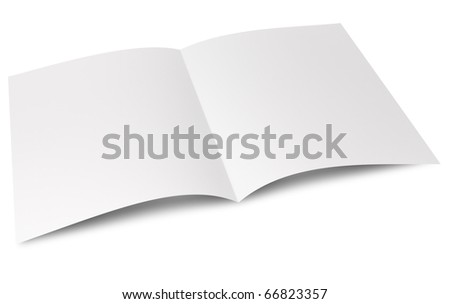 Blank folded flyer - stock photo