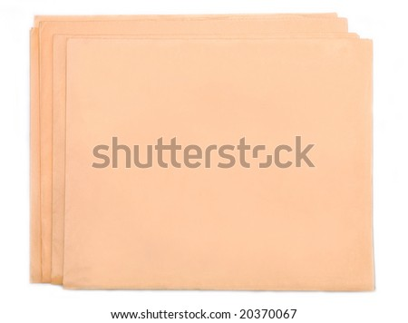 Blank folded news paper - stock photo