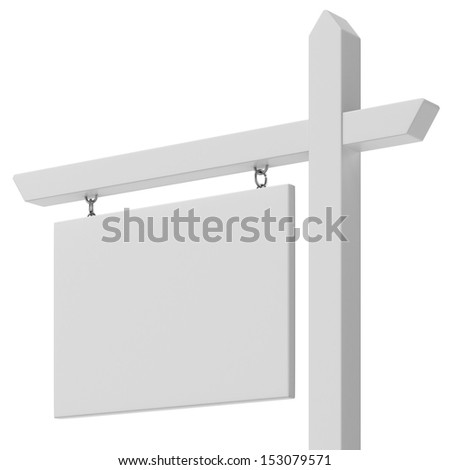 Blank For sale sign close up - stock photo