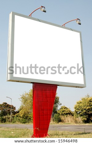 Blank frame for advertisers to place ad copy samples - stock photo