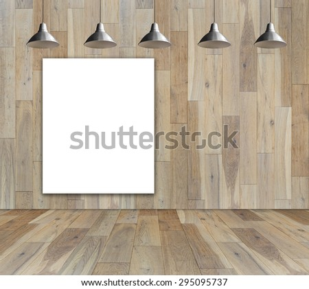 Blank Frame On Wood Wall Ceiling Stock Photo (Royalty Free ...
