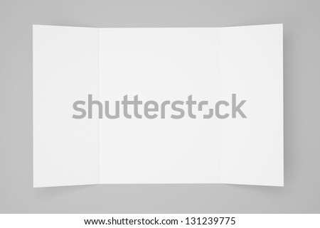 Blank Gate Fold Brochure isolated with soft shadows