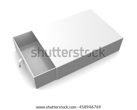 Blank gift box isolated on white background. 3d render