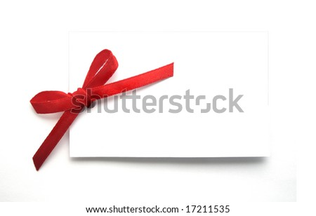 Blank Gift or Price Tag on White