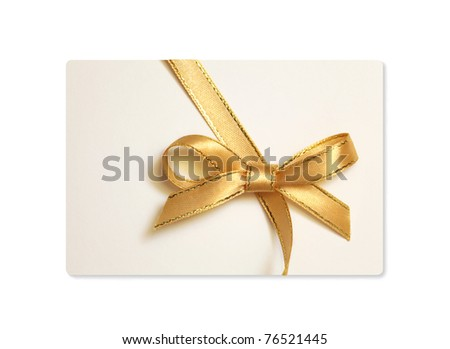 blank gift tag isolated
