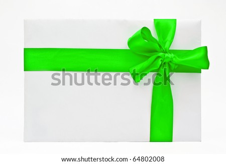 Blank gift with  ribbon