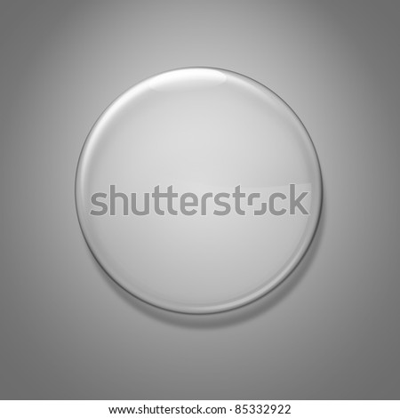 Blank glass badge - stock photo