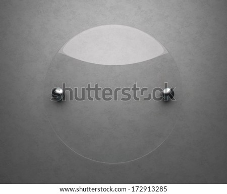 Blank glass plate with copy space  - stock photo