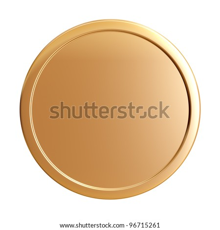 blank gold coin - stock photo