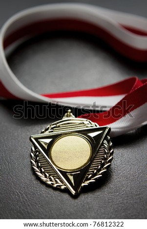 Blank gold medal - stock photo