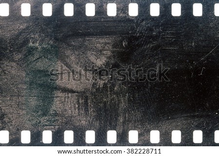 Blank grained dirty film strip texture background  - stock photo