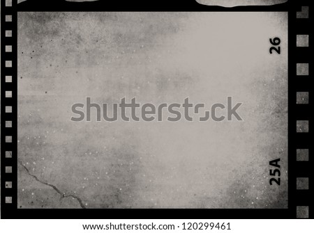 Blank grained film strip abstract grunge texture - stock photo