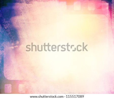 Blank grained film strip grunge bright  texture - stock photo