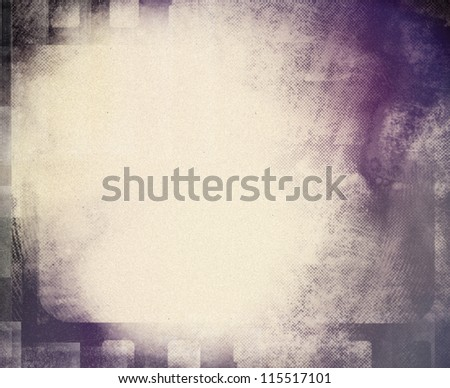Blank grained film strip grunge texture - stock photo