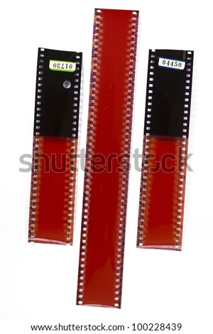 Blank grained film strip texture - stock photo