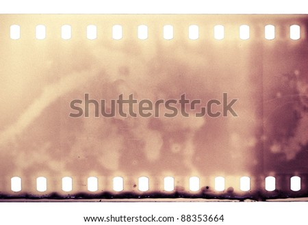 Blank grained film strip texture