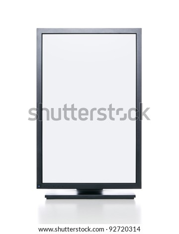 Blank graphic computer monitor with clipping path for the screen - stock photo