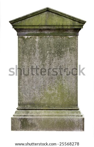 Blank gravestone, ready for an inscription - stock photo