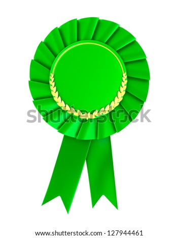 Blank green award badge. - stock photo