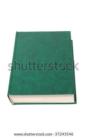 blank green book isolated on white background - stock photo