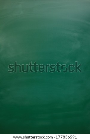 Blank green chalkboard, blackboard texture with copy space - stock photo