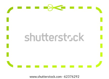 Blank Coupon Voucher Cut Lines Around Stock Illustration 54974251