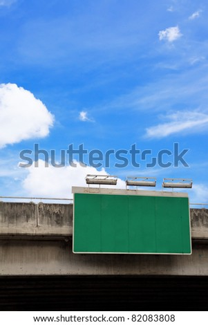 blank green road sign - stock photo