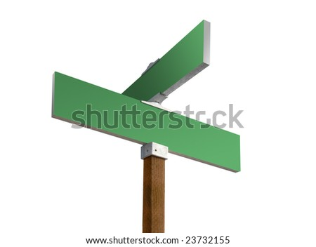 Blank green street sign ready for custom text