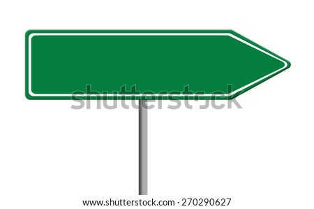 Blank Green Traffic Sign Template On Stock Illustration - Street sign template