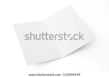 Blank greeting card isolated on white