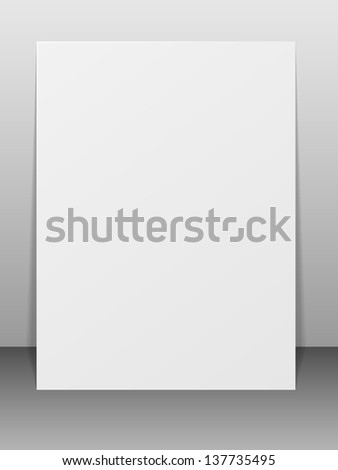Blank greeting card. Vector illustration. Illustration.