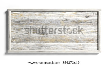 Blank grunge sign post,isolated on white background. - stock photo