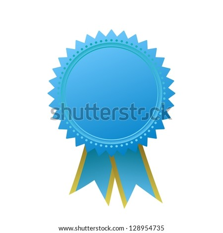 Blank guarantee element sign certificate with ribbons - stock photo
