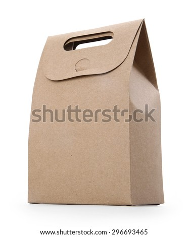 blank hand cake, bread packaging paper bag.