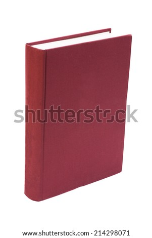 Blank  hardcover book isolated on white background  - stock photo