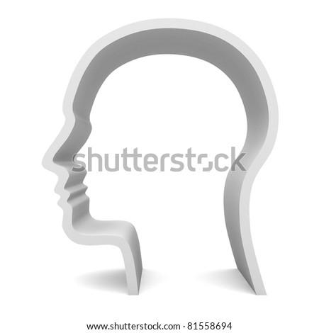 Blank Head - stock photo