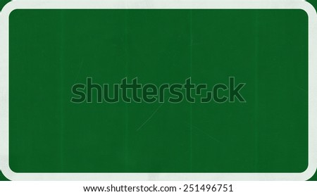 Blank Highway Road Sign Exit Only Concept - stock photo