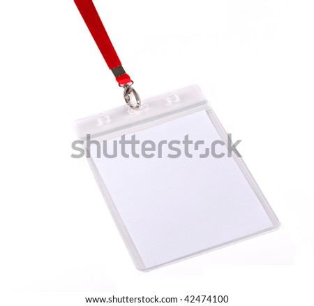 Blank ID card / badge against white background