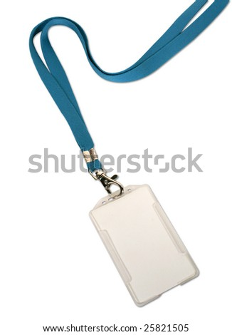 Blank ID card / badge on white background
