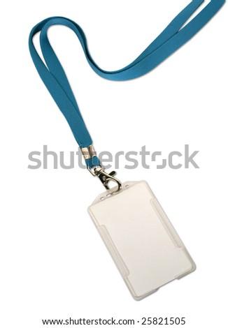 Blank ID card / badge on white background - stock photo