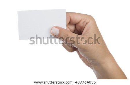Blank ID Card Isolated