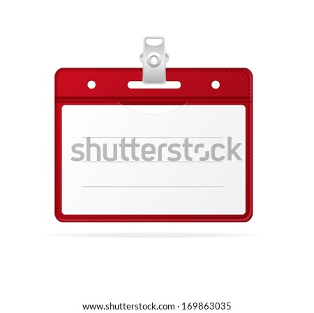 Blank ID (identification card ) Badge isolated on white