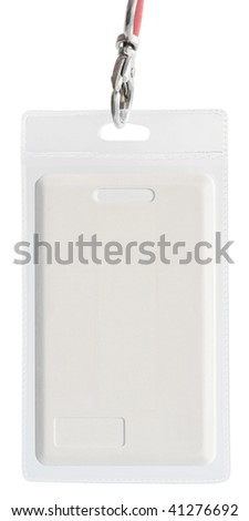 Blank ID VIP card key isolated with clipping path - stock photo