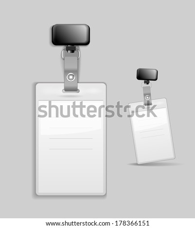 Blank identification card Badge ID template Illustration