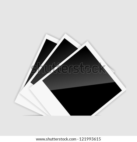 Blank  Instant photos. Raster version. - stock photo
