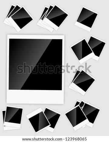 Blank  Instant photos  Raster version illustration - stock photo