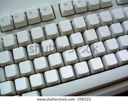 blank keyboard to write your own words - stock photo