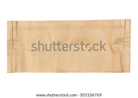 Blank kraft paper texture with copy space isolated on white