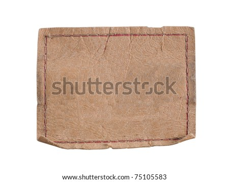 blank label. ready for your text. isolated over white - stock photo