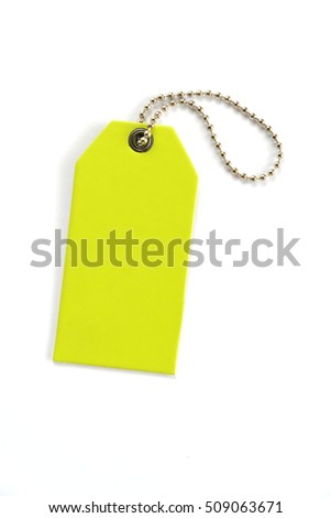 Blank label (tag) on white background. Price tag, gift tag, sale tag, address label